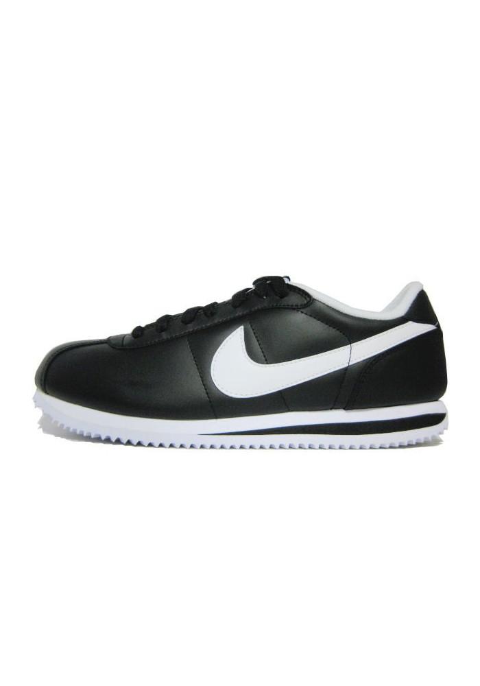 bas prix 814f6 cac56 Cortez de Nike en Cuir Noir Ref: 316418-012 Basket Homme