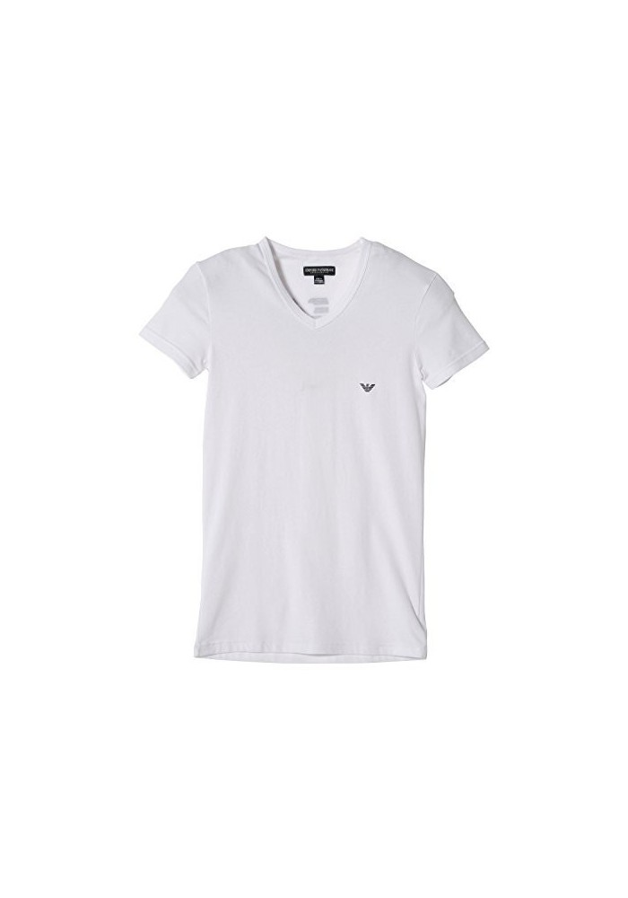 Emporio Armani Hommes Eagle T-Shirt col en V