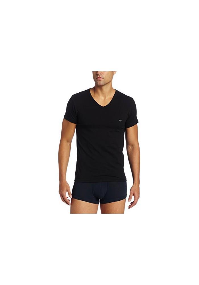 Emporio Armani Hommes T-Shirt col V Coton Stretch