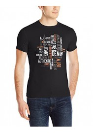 Armani Jeans Hommes T-shirt Slim Fit Water Print Col Rond
