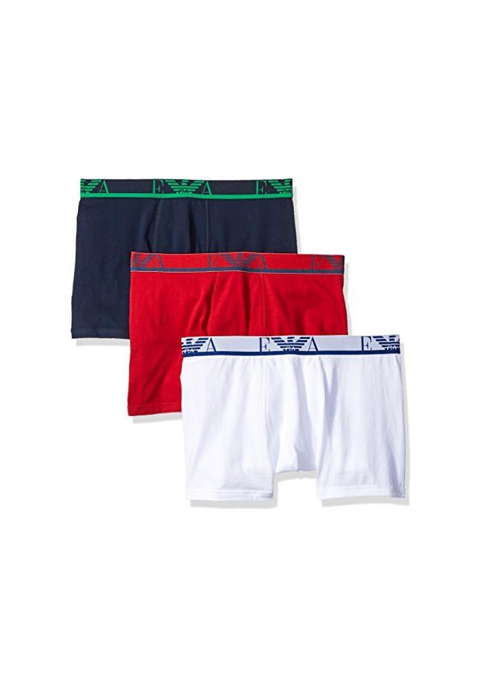 Emporio Armani Hommes Lot de 3 Boxer Coton