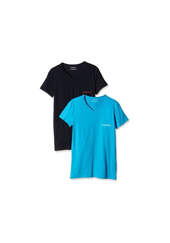 Emporio Armani Hommes Lot de 2 T-Shirt Stretch Coton