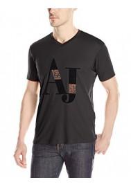 Armani Jeans Hommes Logo T-Shirt col en V