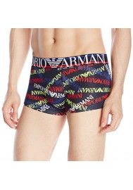 Emporio Armani Hommes Logo Mania Coton Stretch Boxer