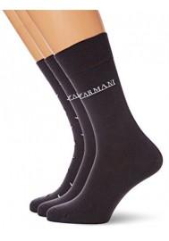 Lot de 3 paires de chaussettes Emporio Armani pour Hommes coton