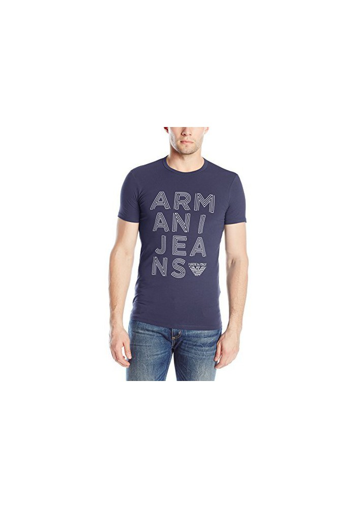 Armani Jeans Hommes Stretch Jersey Logo T-Shirt