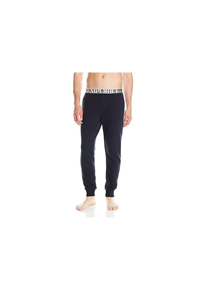 Emporio Armani Hommes Retro Eagle French Terry Banded Lounge Pantalon