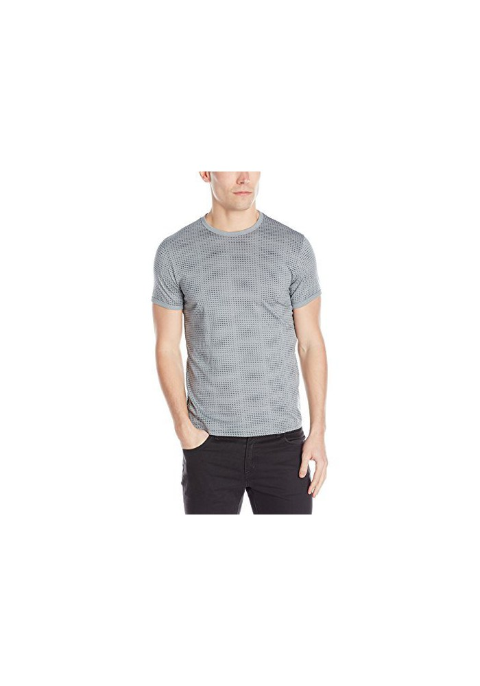 Armani Jeans Hommes Allover Printed Pima Coton T-Shirt