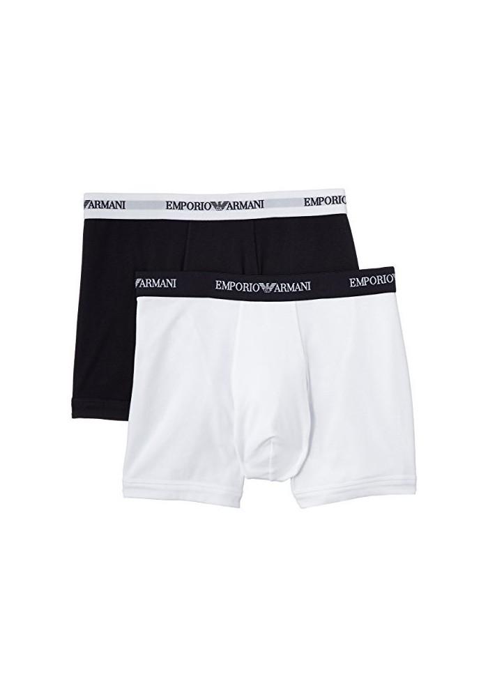 Emporio Armani Hommes 2 Pack Boxer en Coton