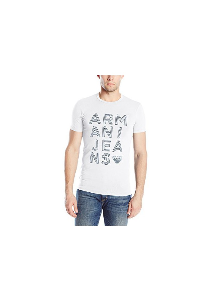 T-Shirt Jersey Logo Armani Jeans Hommes Stretch