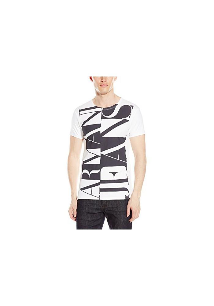 Armani Jeans Hommes Interlock Coton T-Shirt