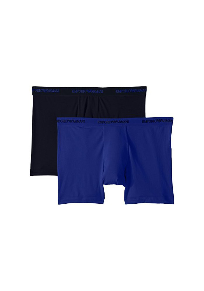 Emporio Armani Hommes Stretch Coton-Blend Boxer Lot de 2