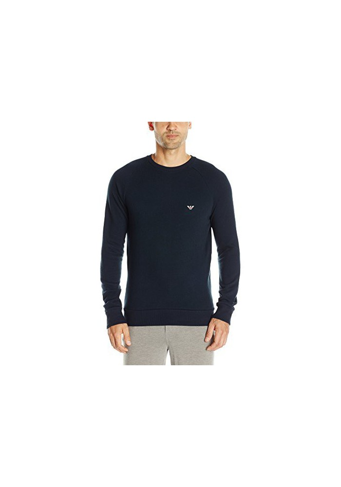 Emporio Armani Hommes Retro Eagle French Terry Pullover Sweatshirt Eagle Logo