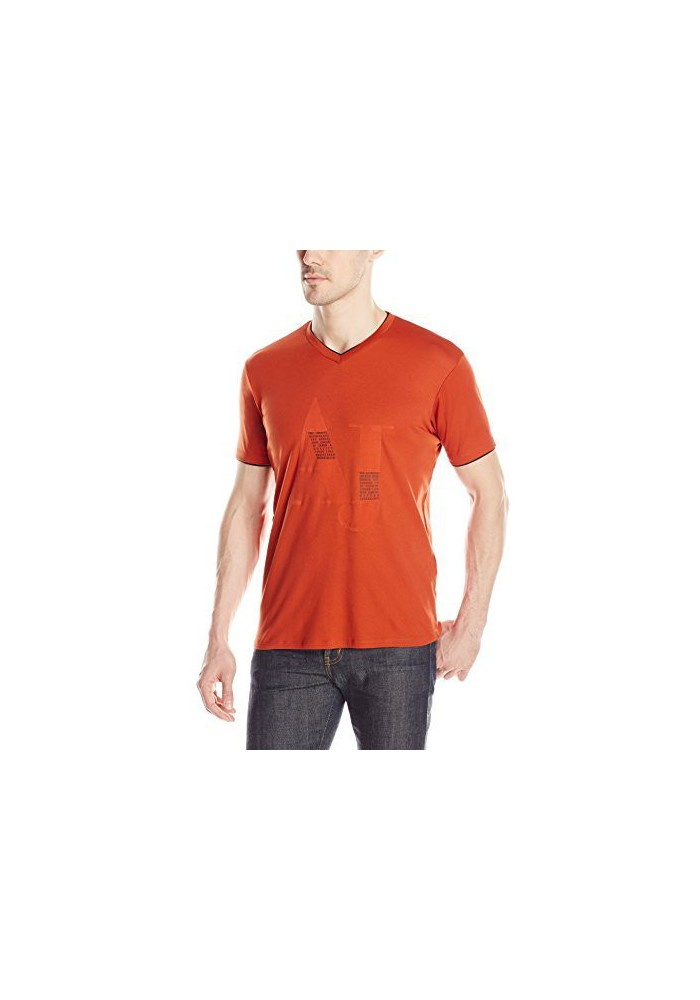 T-Shirt col en V Armani Jeans Logo