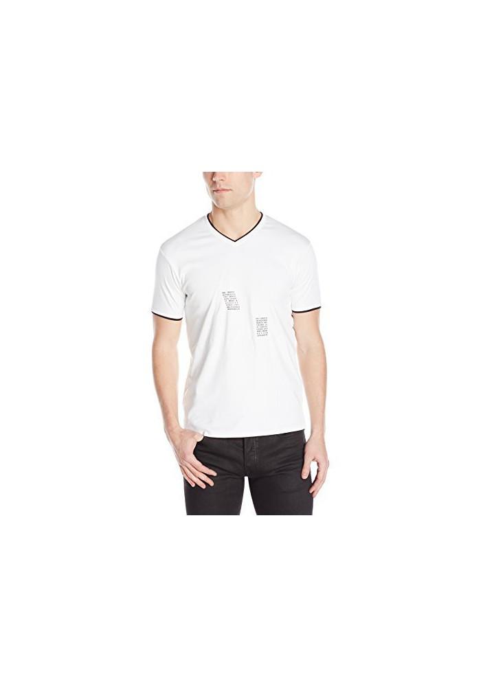 T-Shirt col V Armani Jeans Logo / Hommes