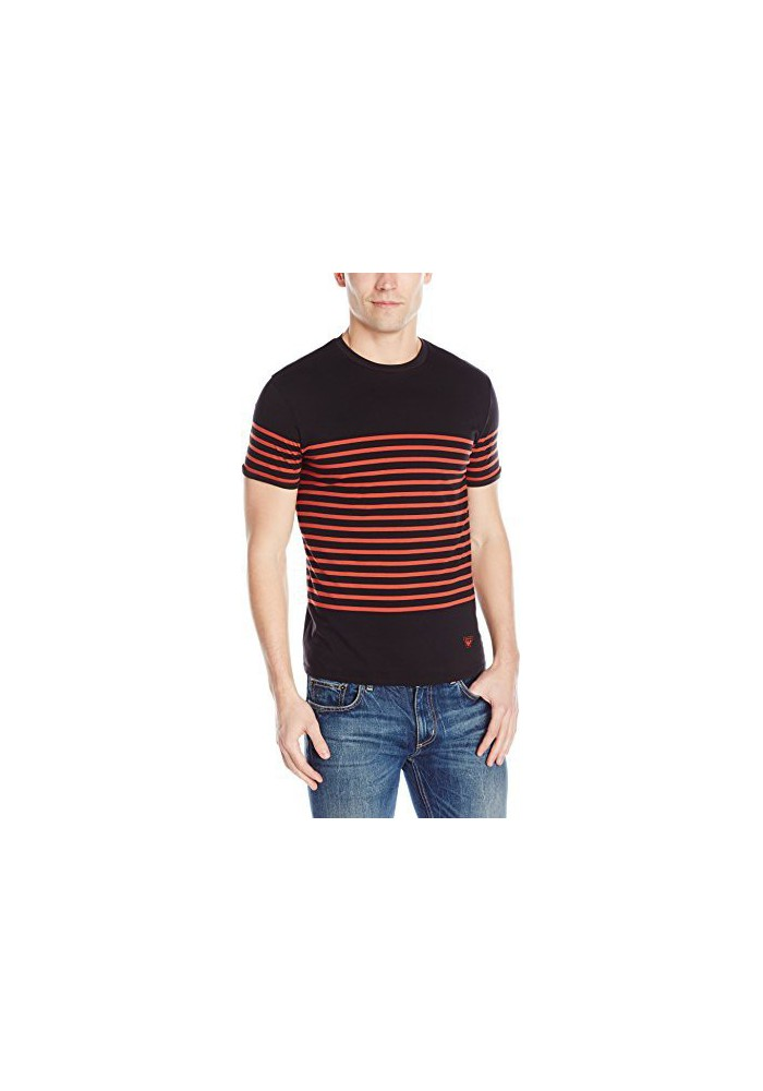 Armani Jeans Hommes Yarned Dye Striped Jersey T-Shirt