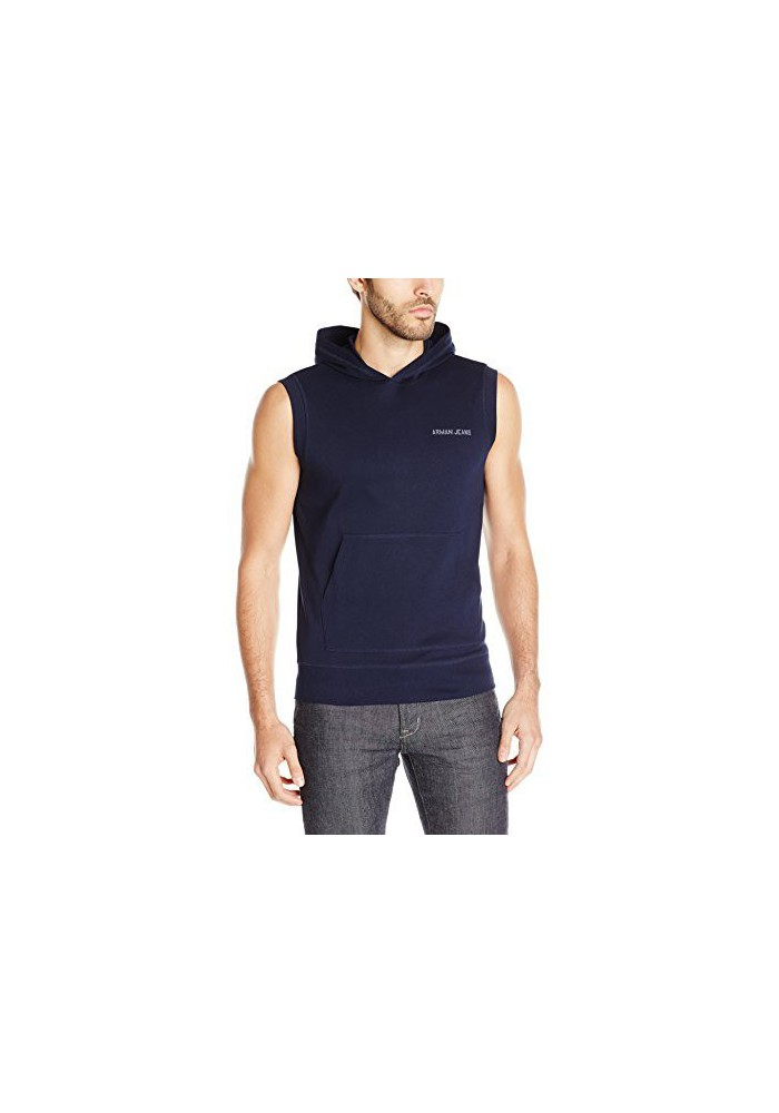 Armani Jeans Hommes Regular Fit Sleeveless Sweat à capuche