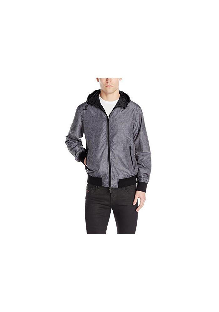 Armani Jeans Hommes Veste Reversible Zip Waterproof Printed