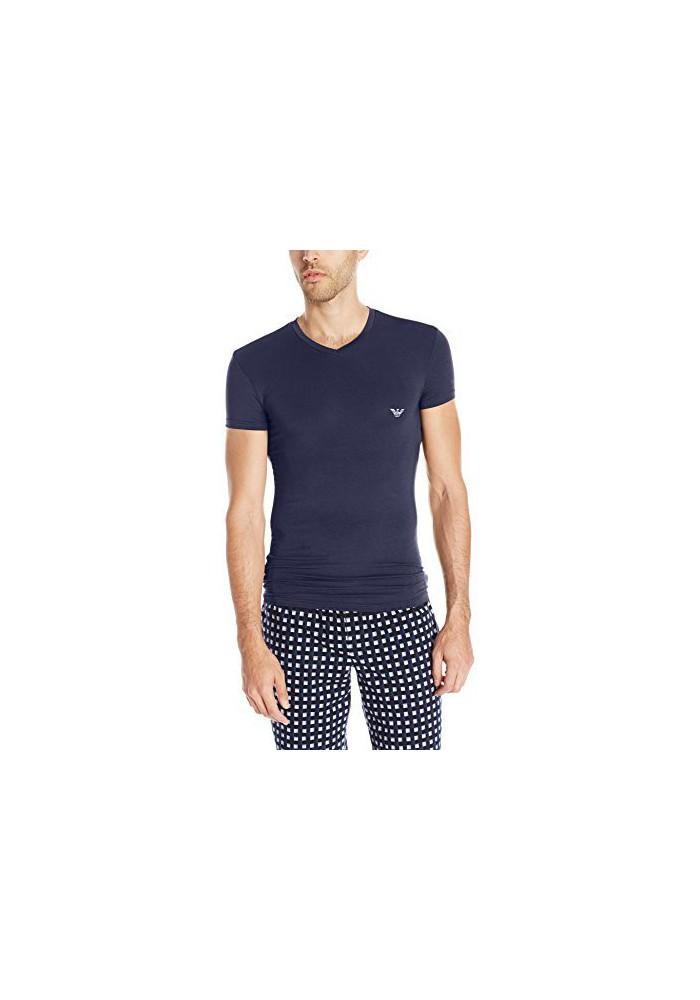 Emporio Armani Hommes Stretch Modal T-Shirt col en V