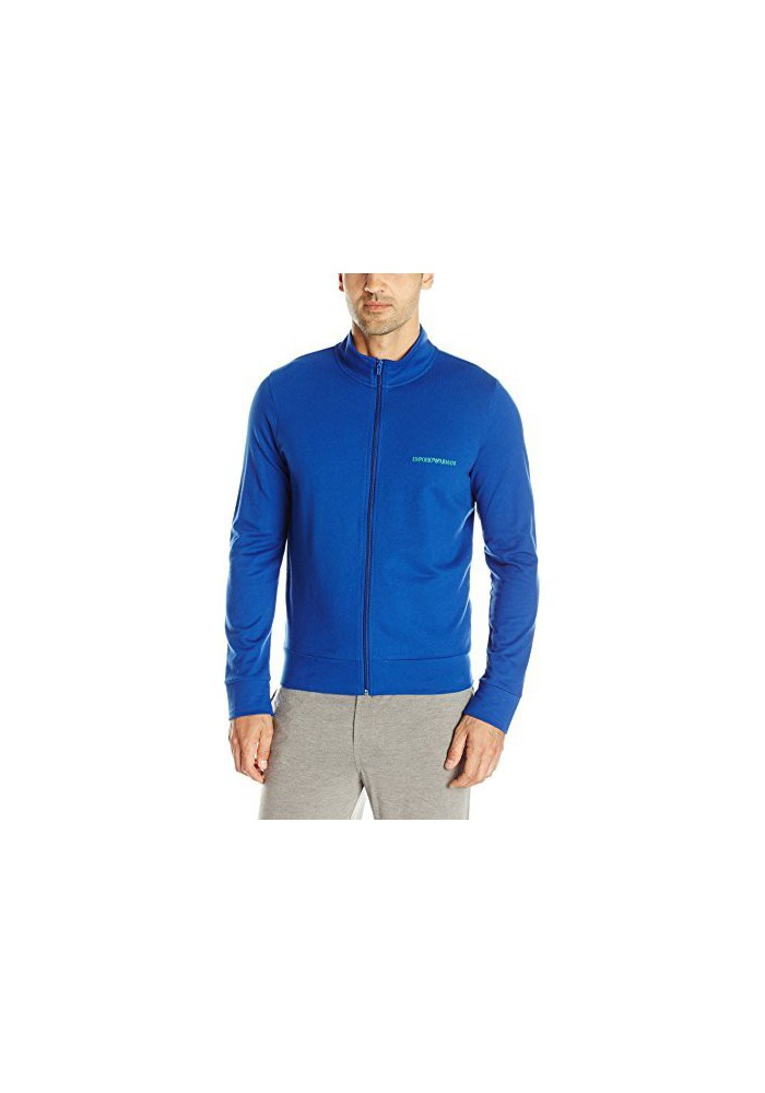 Emporio Armani Hommes French Terry Mock Neck Zip-Up