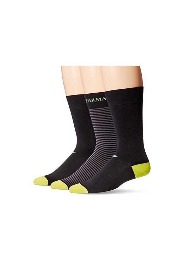 Emporio Armani Hommes ed Basic Stretch Coton Pack de 3 paires de chaussettes