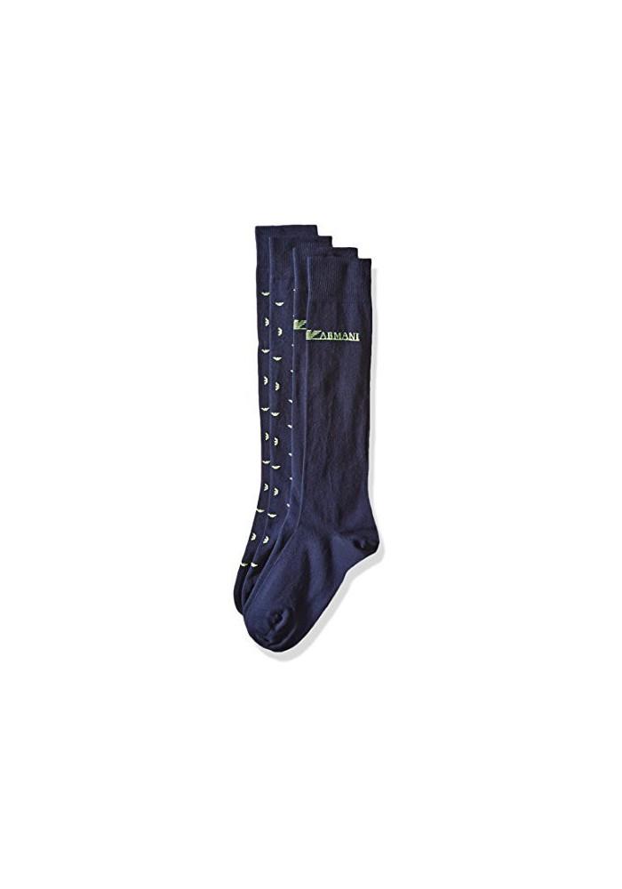 Emporio Armani Hommes ed Basic Coton Pack de 2 paires de chaussettes