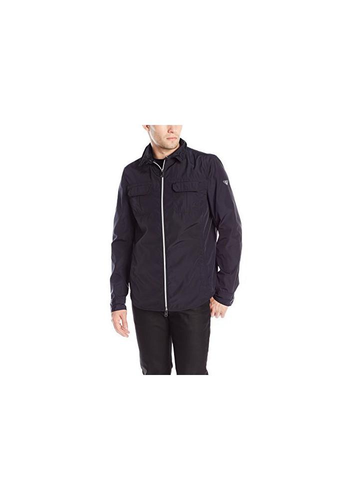 Armani Jeans Hommes Veste Nylon Zip Overshirt