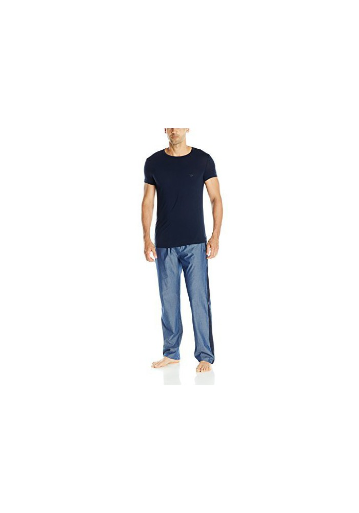 Emporio Armani Hommes Chambray and Viscose Pyjama Set