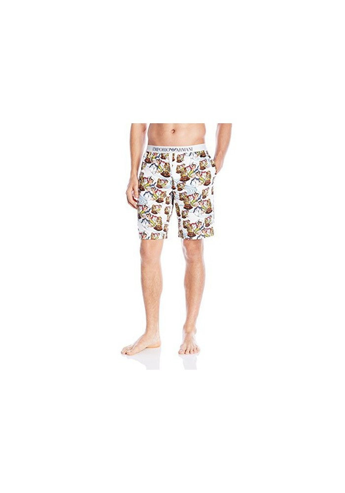Emporio Armani Hommes Tattoo Inspired Printed Bermuda Short