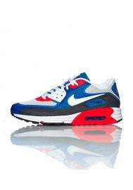 Nike Air Max 90 Lunar C 3.0 631744-004 Bleu / Rouge Chaussure Running Hommes