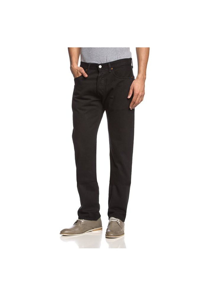 Levi's 501 Original Button Fly Noir Jeans 501-0660 Hommes
