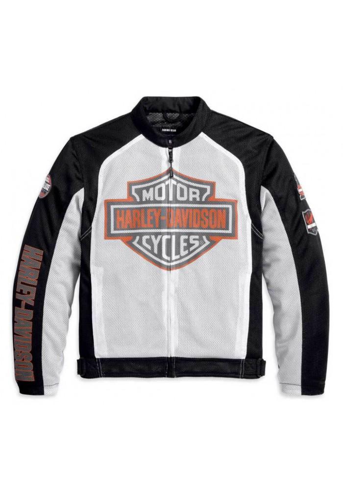Blouson Harley Davidson / Homme Bar & Shield Logo Coton Blanc 98232-13VM