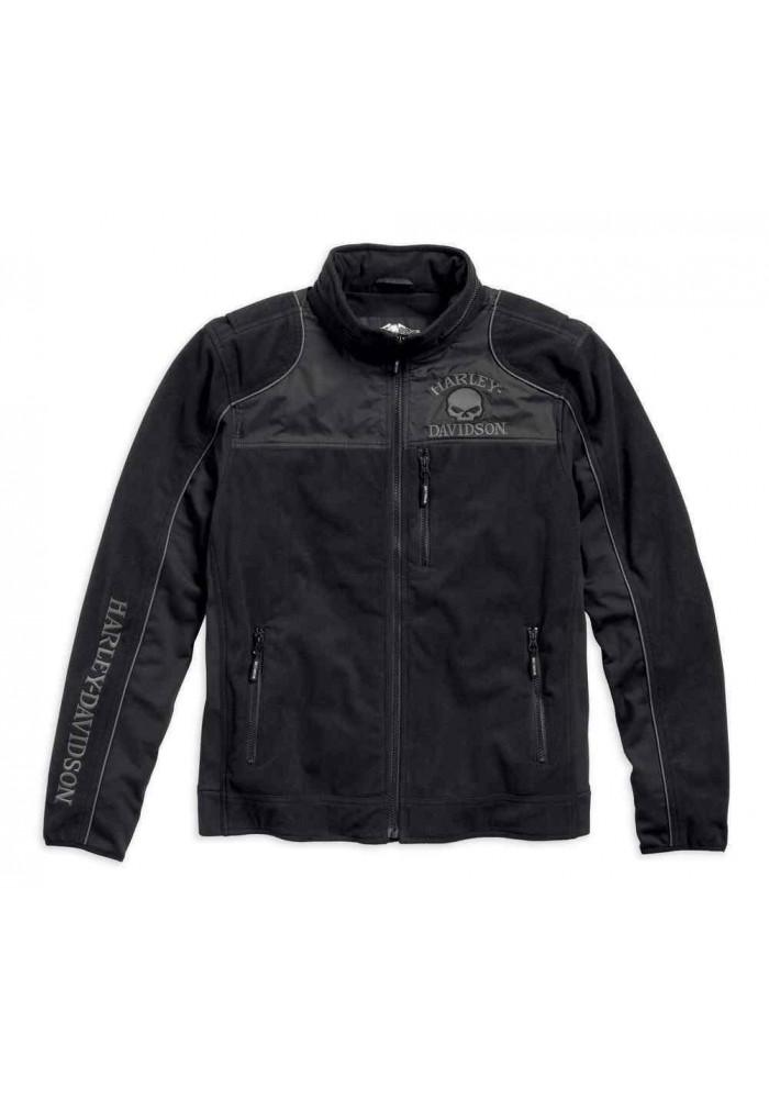 Blouson Harley Davidson / Homme Skull Windproof Polaire Classic Noir 98576-16VM
