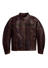 Blouson Harley Davidson / Homme Roadway en Cuir Marron 98002-11VM