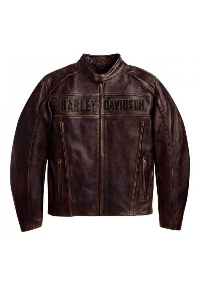 blouson harley davidson homme roadway en cuir marron 98002 11vm. Black Bedroom Furniture Sets. Home Design Ideas