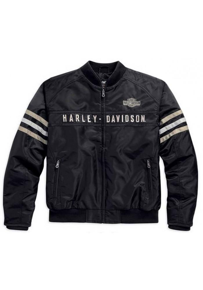 Blouson Harley Davidson / Homme Heritage Nylon Bomber Noir/Beige. 98552-15VM