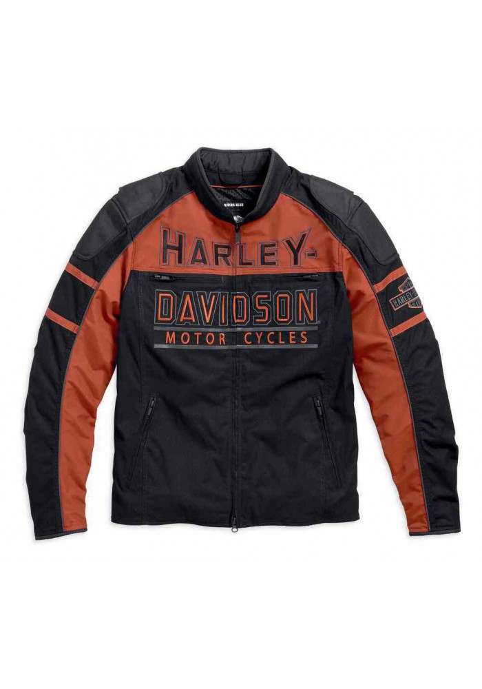 Blouson Harley Davidson / Homme Gastone Colorblocked Noir 98112-16VM