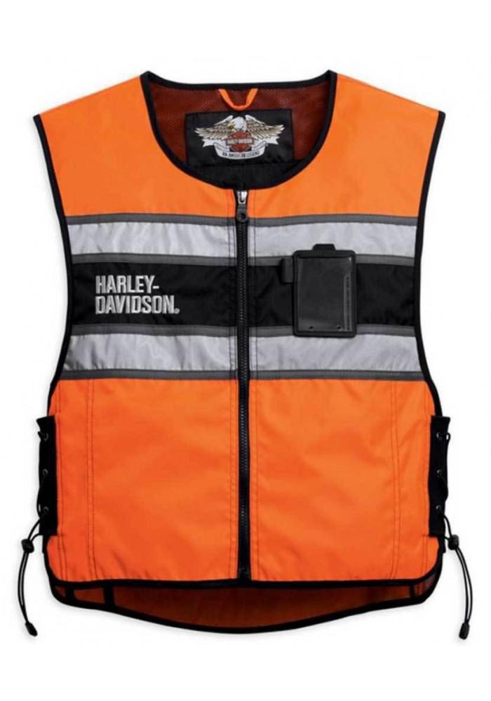 Blouson Harley Davidson / Homme Hi-Vis Orange Gilet sans manches 98172-08VM