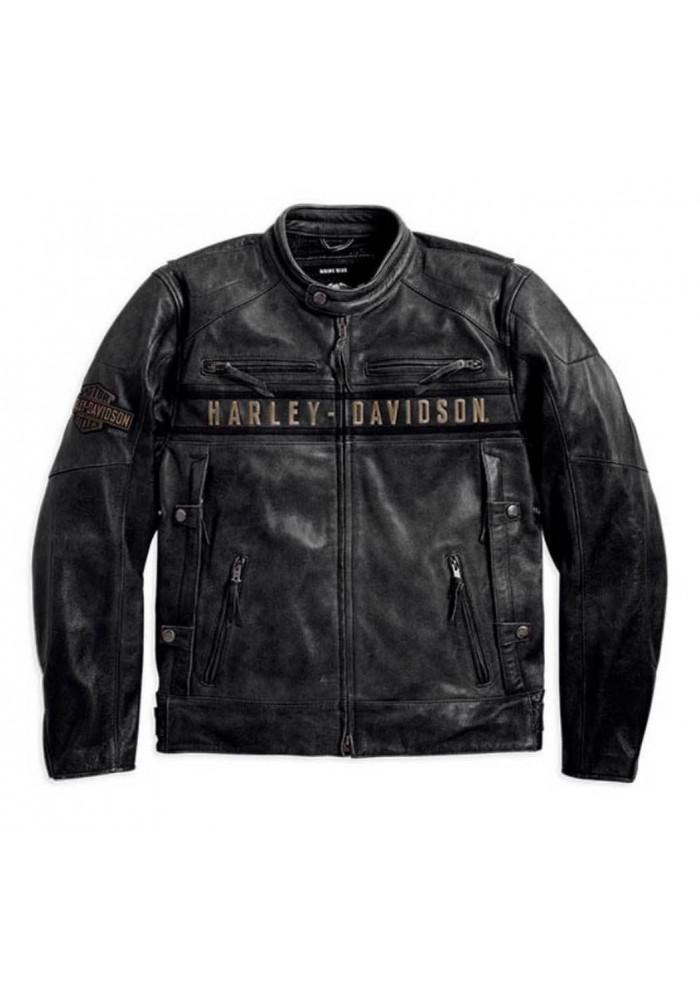 Blouson Harley Davidson / Homme Passing Link Triple Vent en Cuir 98074-14VM