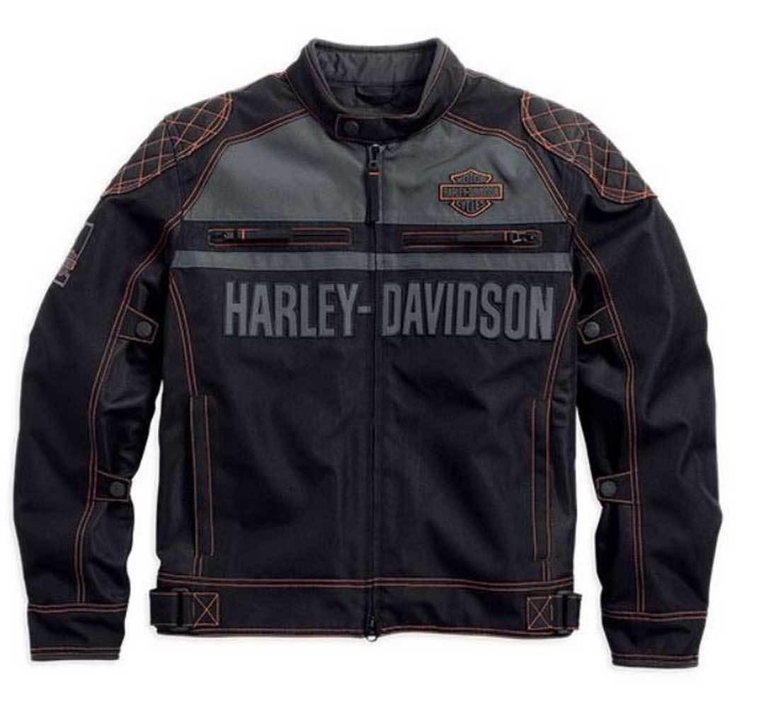 blouson harley davidson homme tailgater coton 98554 14vm. Black Bedroom Furniture Sets. Home Design Ideas