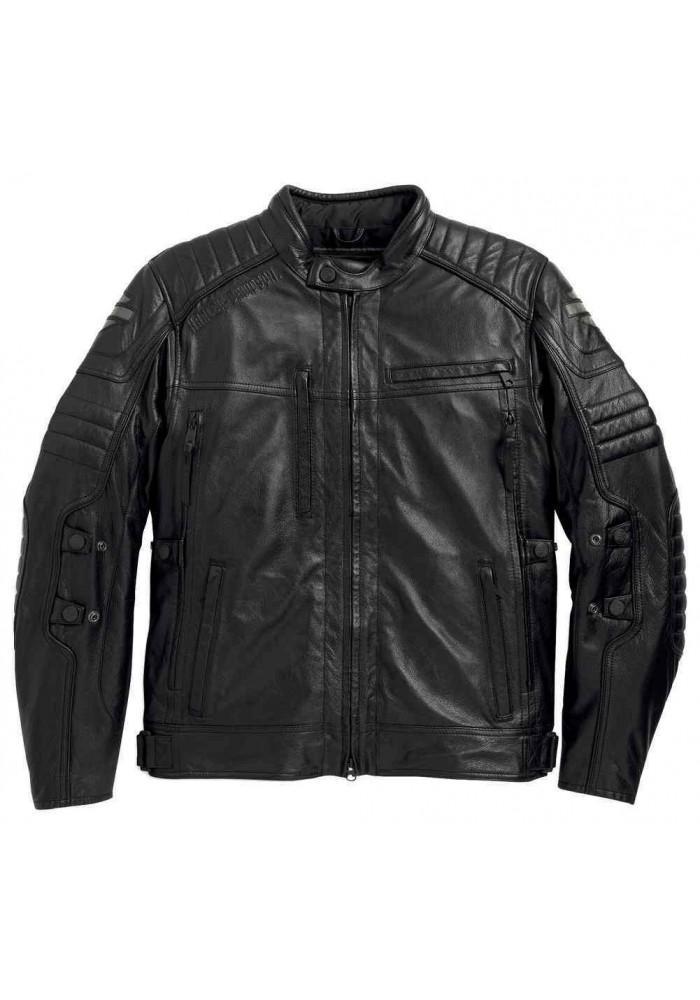 Blouson Harley Davidson / Homme Waterproof Donoghue en Cuir Noir 97104-16VM