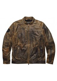 Blouson Harley Davidson / Homme Miramar Distressed en Cuir Marron 97128-16VM