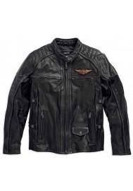 Blouson Harley Davidson / Homme Triple Vent Detonator Distressed en Cuir 98076-15VM