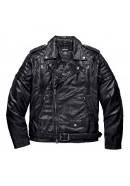 Blouson Harley Davidson / Homme Black Label Core Skull en Cuir Biker 98114-16VM