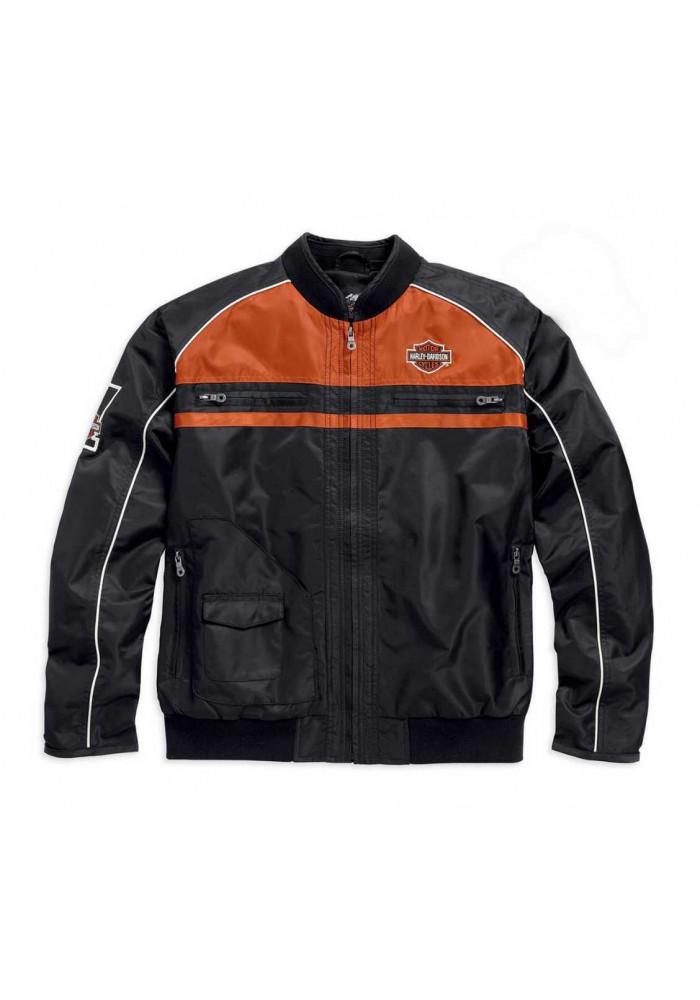 blouson harley davidson homme classic moto ride bar shield noir 98553 15vm. Black Bedroom Furniture Sets. Home Design Ideas