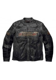Blouson Harley Davidson / Homme Astor Patches Distressed en Cuir Noir 97122-16VM
