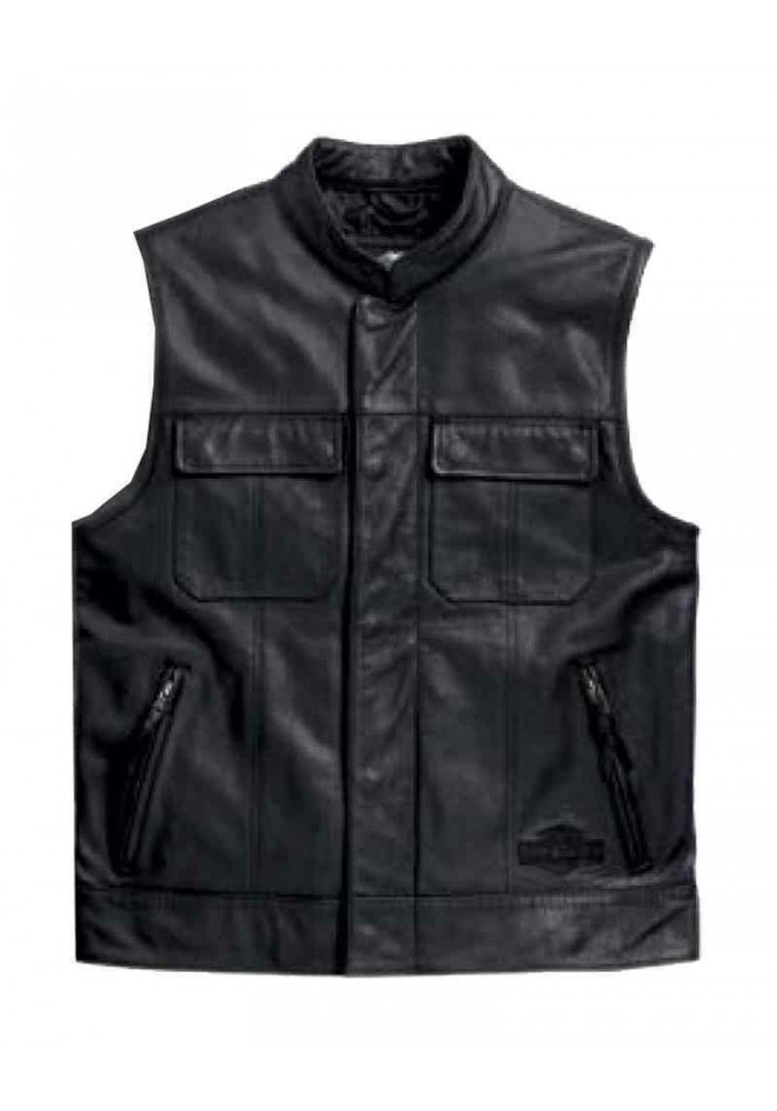blouson harley davidson homme en cuir gilet sans manches. Black Bedroom Furniture Sets. Home Design Ideas