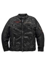Blouson Harley Davidson / Homme Annex Distressed Goatskin en Cuir Noir 98098-16VM