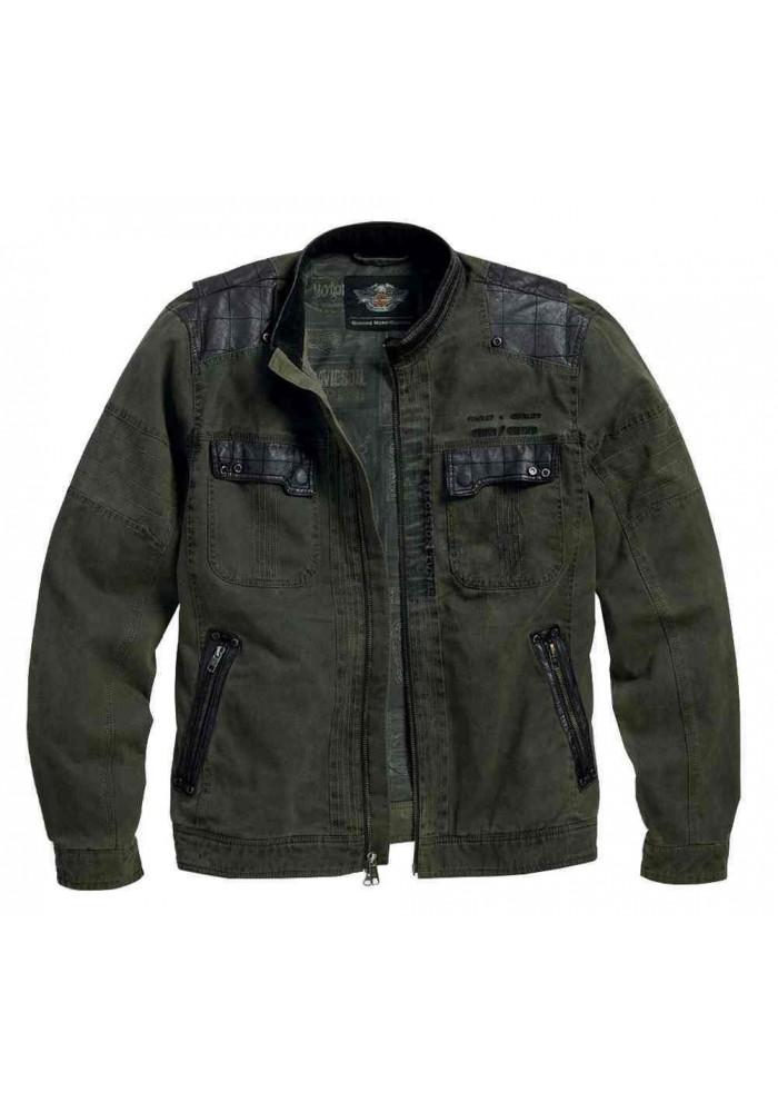 Blouson Harley Davidson / Homme High-Ace Cotton Canvas Classic Vert 97568-16VM