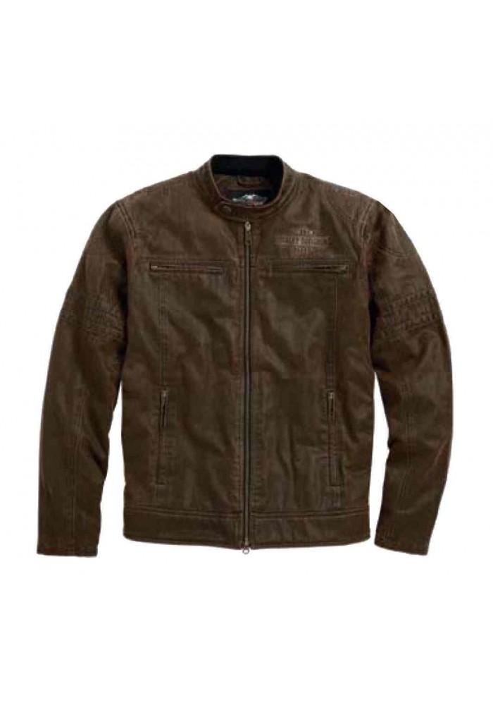 Blouson Harley Davidson / Homme Hornback Moto Bar & Shield Classic Marron 98564-15VM